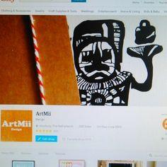 ArtMii on Etsy - Shop Updates  New Etsy Shop Cover Photo in progress!