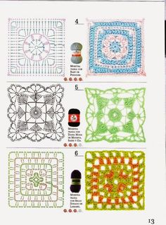 Inspirations Croche with Any Lucy: Squares