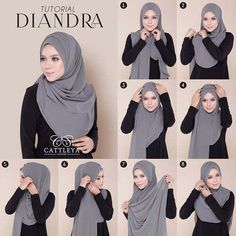 This a simple beautiful hijab tutorial with folds it doesnt look voluminous and . This a simple beautiful hijab tutorial with folds it doesnt look voluminous and you can create as m Tutorial Hijab Pashmina, Square Hijab Tutorial, Simple Hijab Tutorial, Hijab Simple, Hijab Style Tutorial, Turkish Hijab Tutorial, Hijab Chic, Hijab Elegante, Stylish Hijab