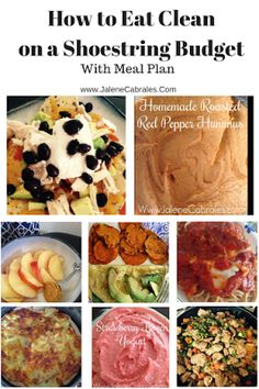 Jalene Cabrales saved to Clean Eating Meals and to Eating Clean on a Shoestring Budget, complete with low cost meal planning tips and recipes. Low Budget Meals, Budget Meal Planning, Cooking On A Budget, Budget Recipes, Cooking Tips, Healthy Cooking, Healthy Snacks, Healthy Eating, Paleo Recipes