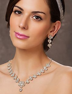 Austrian Rhinestone Flowers Bridal Necklace and Earring Set. Get awesome discounts up to 70% Off at Light in the Box using Coupons.