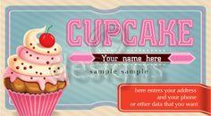 Digital Business Calling Card Cupcake Template No 4 Digital Business Card, Business Cards, Cupcake Template, Studio Cards, Calling Cards, Craft Supplies, Templates, Logo, Handmade Gifts