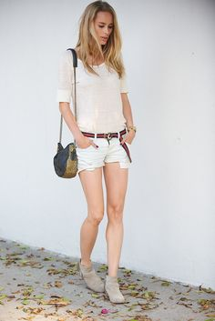 ANINE BING t shirt, shorts and boots: www.aninebing.com