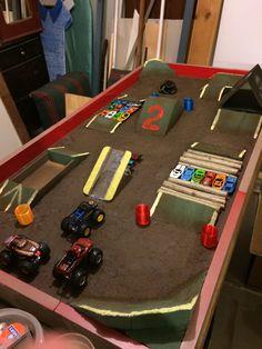 Monster Jam, Monster Truck Kids, Monster Truck Birthday, Cars Birthday Parties, Lego Parties, Lego Birthday, Monster Truck Bedroom, Truck Ramps, Diy Busy Board