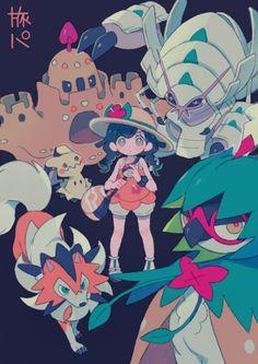 Pokémon Ultra Sun & Moon, by Pixiv Id 601940 Pokemon Alola, Pokemon Stuff, Pokemon Team Leaders, Moon Images, Pokemon Pictures, Sun Moon, Haikyuu Anime, Image Boards, Creatures