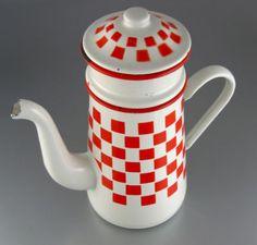 Love this French enamel coffee pot....