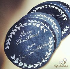 Custom chalkboard Merry Christmas Gift Tags free gift tag printable