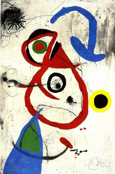 Joan Miro I find Joan Miro's painting style really exciting because I like how the brush marks look carefree & energetic.