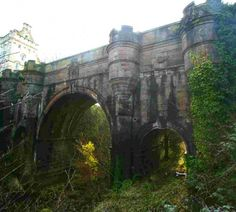 Overtoun Bridge, Scotland - bizarre dog suicide spot. They just jump off... even more odd, they are always long-nosed breeds (Collies, Labs, Retrievers etc).