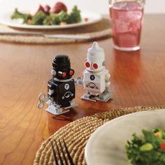 I NEED THISSSSSSSS The Salt And Pepper Robots - Hammacher Schlemmer