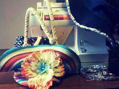 Création d'un sac à partir d'une capeline. #stage #couture #capeline