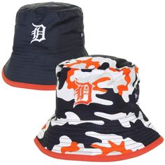 fe60394a067 New Era Detroit Tigers Infant Camo Switch Up Reversible Bucket Hat - Navy  Blue