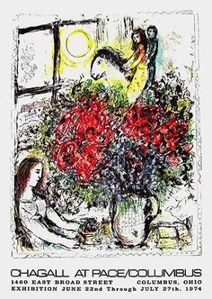 "Original Edition Lithograph on wove paper, 1974. Paper Size: 31"" x 22."" Published by Pace Gallery. Excellent Condition; never framed or matted. Certificate of Authenticity included. MARC CHAGALL (1897"
