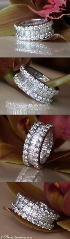 Luxury: High-end Diamond Eternity Ring, 5.73 ct. G-VS, WG-18K - Visit:  schmucktraume.com  Like:  www.facebook.com/...  Mail: info[at]schmucktraeume.com #DiamondEternityRings