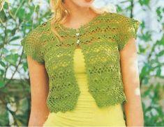 Pretta Crochet: Bolero (bolero marron feito por mim)