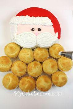 The CUTEST Santa Pull-Apart Cupcake Cake! Tutorial by MyCakeSchool.com!
