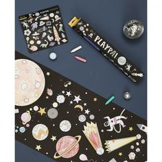 Space travel here we go! Explore the stars, create your own adventures, colour the planets and creatures you meet along the way – and don't forget to add a pack of Playpa Stickers for even more fun! Party Bags, Party Gifts, Rocket Cake, Alien Party, Create Your Own Adventure, Outer Space Party, Space Theme, Star Wars Party, Imaginative Play