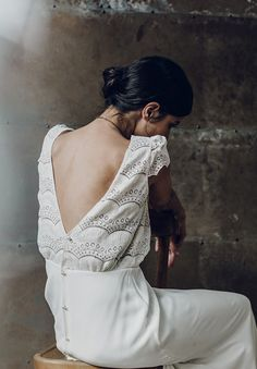 """""""By mixing fine quality materials, like luxury French lace and soft silks with more conservative, low-key designs, Laure de Sagazan has created a range of drool-worthy dresses and separates perfect for the non-bridal bride."""""""