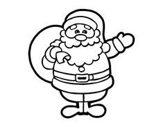 Dibujo de Un Papá Noel para Colorear