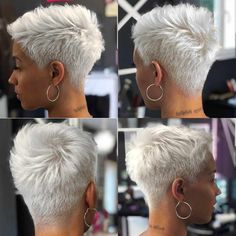 Icy Short Pixie Cut - 60 Cute Short Pixie Haircuts – Femininity and Practicality - The Trending Hairstyle Short Hair Hacks, Prom Hairstyles For Short Hair, Short Pixie Haircuts, Bob Haircuts, Blonde Pixie Hairstyles, Bob Hairstyles, Short Pixie Cuts, Pixie Cut With Undercut, Blonde Hair