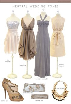 Neutral Wedding Tones. I am more of a bright color fan (reds, etc) but this is so elegant & classy...love it!