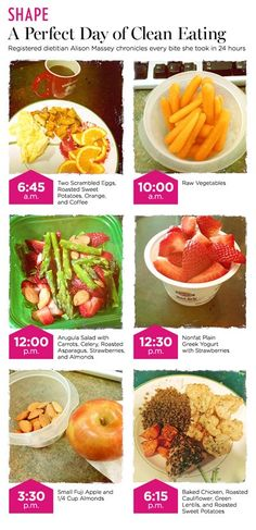 Shape Magazine - A perfect day of clean eating by registered dietitian Alison Massey