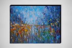 "Saatchi Art Artist: Sergej Ovcharuk; Oil 2013 Painting ""Music of the rain :Paris"""