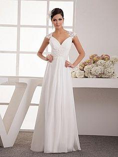 Pamalla - corte a gorra vestido de novia de gasa con apliques - EUR €121,09