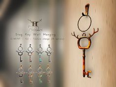 +Half-Deer+ Stag Key Wall Hanging http://maps.secondlife.com/secondlife/Offbeat/217/99/23