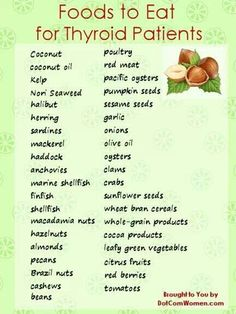 Food for thyroid patients