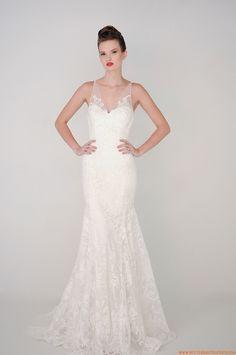 2015 Meerjungfrau Trendige Sexy Brautkleider aus Softnetz mit Applikation
