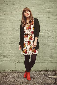 Tawny-wolverine-boots-ivory-kintage-dress-black-target-tights