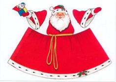 Santa Figure to cut fold and stand up 2013