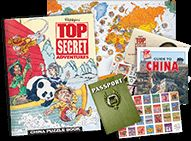 In this secret agent-themed puzzle book club, children become detectives searching for who, what, and where clues to solve mysteries, one country at a time. Ages 7+ $18 per month.