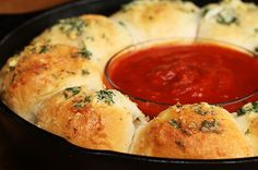 Cheesy Garlic Bread Meatball Ring