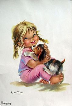 Girl and doggy
