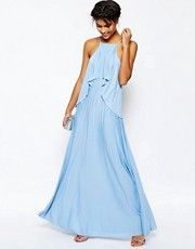 ASOS Ruffle Pleated Maxi Dress
