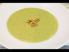 Crema de brócoli con Thermomix | Receta paso a paso - YouTube Cheeseburger Chowder, Soup, Fruit, Ethnic Recipes, Youtube, Caldo De Pollo, Recipes With Vegetables, Ethnic Food, Kitchens
