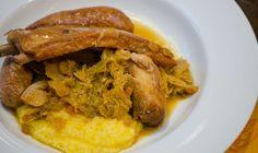 Cassoeula: Italian Braised Pork and Cabbage – Honest Cooking Italian Entrees, Italian Recipes, Creamy Polenta, Pork And Cabbage, Savoy Cabbage, Wine Recipes, Cooking Recipes, Braised Pork