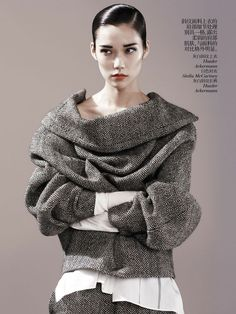 Tao Okamoto by Josh Olins for Vogue China August 2013 | The Fashionography