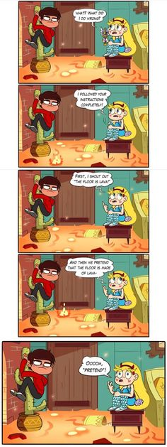 Star vs the Forces of Evil Starco Comics, The Floor Is Lava, Httyd, Disney Xd, Star Butterfly, Comic Movies, Cartoon Shows, Force Of Evil, Anime