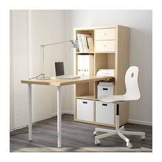KALLAX Workstation, birch effect birch effect 30 3/8x57 7/8