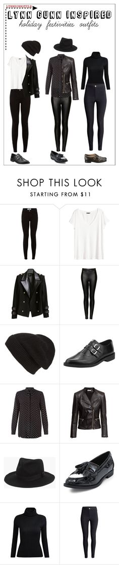 """""""Lynn gunn"""" by halfmoonkelly ❤ liked on Polyvore featuring H&M, Topshop, Phase 3, T.U.K., Madewell and Michael Kors"""