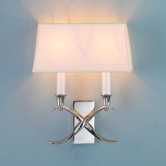 "Transitional 'X' Wall Sconce with Shade 2 60 Watt Lights 12.5""Hx10""Wx4.5""D $219"