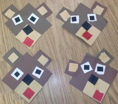 Square Bears from our Circus Unit. Pattern at https://www.teacherspayteachers.com/Product/Shape-Animals-79108