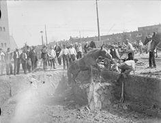 Bree, aan de overkant de Randweg. Foto van rond 1935 van A. Brejaart.