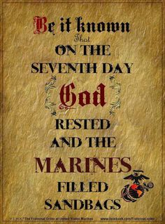 Every Marine knows this is probably true!