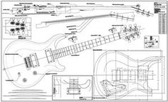 electtric guitar measurements - Yahoo Image Search results
