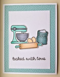 Lawn Fawn -Baked With Love stamp set & matching dies. Card by Mocha Frap Scrapper