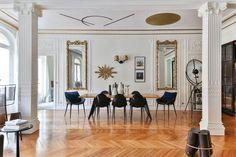 Bolt stool by Note Design Studio, Sotheby's Realty Note Design Studio, Loft, Oversized Mirror, Gallery Wall, Wallpaper, Interior, Furniture, Prestige, Home Decor